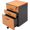 RAPID WORKER MOBILE PEDESTAL 3 DRAWERS LOCKABLE 690 X 465 X 447MM BEECH/IRONSTONE