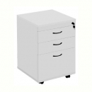 RAPID VIBE MOBILE PEDESTAL 3 DRAWERS LOCKABLE 690 X 465 X 447MM GREY