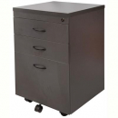 RAPID WORKER MOBILE PEDESTAL 3 DRAWERS LOCKABLE 690 X 465 X 447MM IRONSTONE