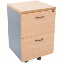 RAPID WORKER MOBILE PEDESTAL 2 DRAWERS LOCKABLE 690 X 465 X 447MM BEECH/IRONSTONE