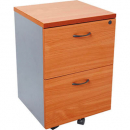 RAPID WORKER MOBILE PEDESTAL 2 DRAWERS LOCKABLE 690 X 465 X 447MM CHERRY/IRONSTONE
