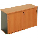 Rapid worker sliding door credenza 1200 x 450 x 730mm beech/ironstone