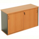 Rapid worker sliding door credenza 1500 x 450 x 730mm beech/ironstone