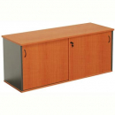 Rapid worker sliding door credenza 1800 x 450 x 730mm cherry/ironstone