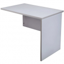 Rapid vibe open desk return 900 x 600 x 730mm grey