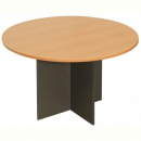 RAPID WORKER ROUND MEETING TABLE 1200MM CHERRY/IRONSTONE