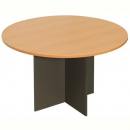 RAPID WORKER ROUND MEETING TABLE 900MM BEECH/IRONSTONE