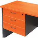 Rapid worker desk pedestal fixed 3 drawers lockable 465 x 370 x 454mm cherry/ironstone