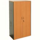 Rapid worker cupboard lockable 1800 x 900 x 450mm cherry/ironstone
