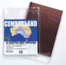Cumberland sheet protectors double capacity with gusset A4 pack 10