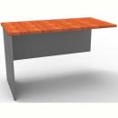 Rapid worker desk wing return 900mm cherry/ironstone