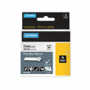 Dymo 18489 rhino label tape 19mm flexible nylon black on white