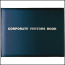 Debden corporate visitors book 300mm x 200mm 192 pages gold blocked black