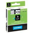 Dymo D1 label tape 12mm black on white