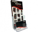 Deflecto dl single tier brochure holder with business card holder clear