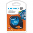Dymo letratag plastic label tape 12mm ultra blue