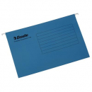 Esselte handy tab suspension files foolscap blue box 50