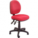 Rapidline operator chair medium back 3 lever red
