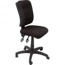 RAPIDLINE ERGONOMIC TYPIST CHAIR SQUARE BACK SEAT/BACK TILT BLACK