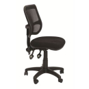 Rapidline mesh chair medium back fabric seat black