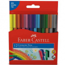 Faber-castell connector pen assorted wallet 12
