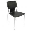 Fernando stacking visitor chair chrome frame black