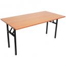 Rapidline folding table 1500 x 750mm laminate top cherry