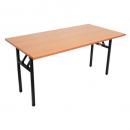 Rapidline folding table 1800 x 750mm cherry