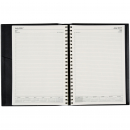 Norwich financial year spiral diary A4 day to page black