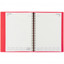 Soho financial year spiral bound diary A4 asst col