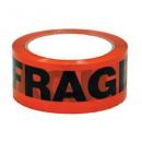 Packaging printed tape fragile orange/black