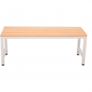 RAPIDLINE SINGLE SIDED BENCH SEAT 1000 X 360MM SILVER GREY/LIGHT OAK