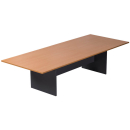 Rapid worker boardroom table 3200 x 1200mm beech