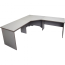 Rapid vibe open corner desk 3 piece 1800 x 1800 x 600 x 730mm grey