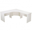 Rapid vibe open corner desk 3 piece 1800 x 1800 x 600 x 730mm white