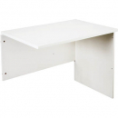 Rapid vibe open desk return 900 x 600 x 730mm white