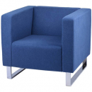 RAPIDLINE ENTERPRISE FABRIC LOUNGE CHAIR SINGLE SEAT BLUE
