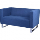 Rapidline enterprise fabric lounge chair two seater blue