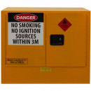Rapidline flammable liquids cabinet 100 litre 920 x 615 x 800mm yellow