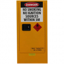 Rapidline flammable liquids cabinet 60 litre 505 x 465 x 1065mm yellow