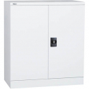 Go steel cupboard 2 shelves 910 x 450 x 1015mm flat packed white china