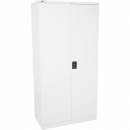 INITIATIVE STATIONERY CUPBOARD 3 SHELVES 910 X 450 X 1830MM WHITE CHINA