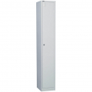 Go steel extra wide locker 1 door 380 x 455 x 1830mm flat pack silver grey