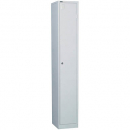 Go steel locker 1 door 305 x 455 x 1830mm silver grey
