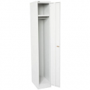 Go steel extra wide locker 1 door 380 x 455 x 1830mm silver grey
