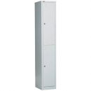 GO STEEL LOCKER 2 DOOR 385 X 455 X 1830MM SILVER GREY