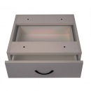 RAPID VIBE DESK PEDESTAL FIXED 1 DRAWER 465 X 447 X 152MM GREY
