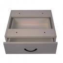 Rapid vibe desk pedestal fixed 1 drawer 465 x 447 x 152mm grey