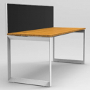 Rapid infinity 1 person single sided modular loop leg workstation with screens 1800 x 700mm beech