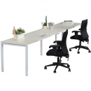 RAPID INFINITY 2 PERSON SINGLE SIDED MODULAR STRIGHT LEG WORKSTATIONS 1200 X 700MM WHITE